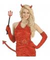Halloween - Duivel set met pailletten 3-delig