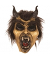 Halloween - Latex horror masker duivel goud