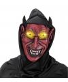 Halloween - Rode duivel masker met capuchon voor volwassenen